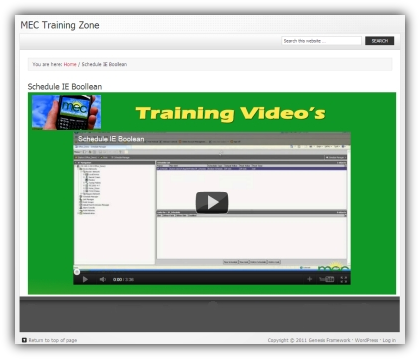MEC Video Training Zone ...training support from MEC